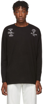 Raf Simons Black Cotton Long Sleeve T-Shirt