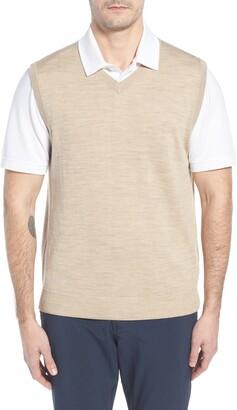 Cutter & Buck 'Douglas' Merino Wool Blend V-Neck Sweater Vest