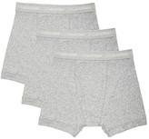 Calvin Klein Underwear Cotton Classics 3 Pack Boxer Briefs in Gray