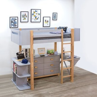 Isabelle & MaxTM Deckerville Twin Loft Bed with Desk and Bookcase Isabelle & Max