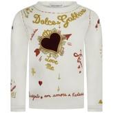 Dolce & Gabbana Dolce & GabbanaBaby Girls Ivory Amore e Fantasia Top