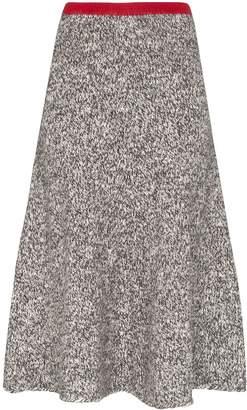 Vika Gazinskaya contrast waist melange wool skirt