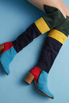 Anthropologie Colorblock Knee-High Boots