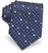 Forzieri Pure Silk Woven Polka Dots Men's Tie