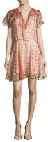 Zadig & Voltaire Rose Silk Printed Deluxe Flared Dress