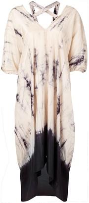 Masnada Plus tie-dye print dress