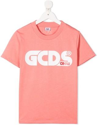 Gcds Kids Logo-Print Jersey T-Shirt