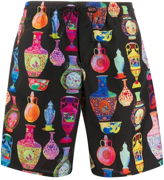 Versace seven vessels print swimming shorts