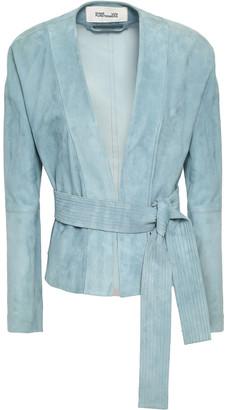 Diane von Furstenberg Belted Suede Jacket