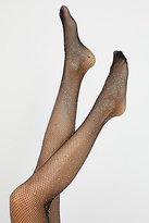Hansel from Basel Sparkle Fishnet Tights by at Free People