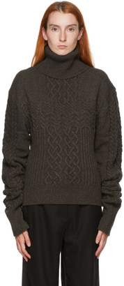 Kim Matin Grey Knit Volume Sweater