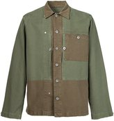 Maison Margiela panelled shirt jacket - men - Cotton - 42
