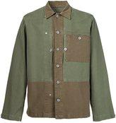 Maison Margiela panelled shirt jacket - men - Cotton - 42