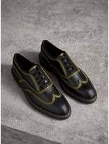 Burberry Topstitched Leather Derby Shoes