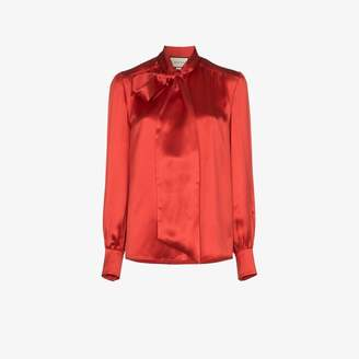 Gucci pussybow satin blouse