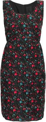 Anna Sui Floral-print Silk-blend Cloque Mini Dress