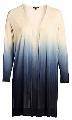 Lafayette 148 New York Lafayette 148 New York, Plus Size Women's Open Front Ombre Cardigan Sweater