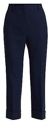 Fendi Women's Wool Crepe Slim Cropped Pants