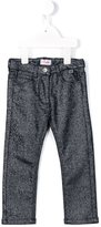 Il Gufo metallic jeans - kids - Cotton/Spandex/Elastane/Metallic Fibre - 12 yrs