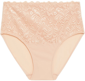 Wacoal Stretch-lace And Jersey High-rise Briefs