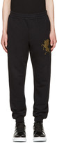 Alexander McQueen Black coat Of Arms Lounge Pants