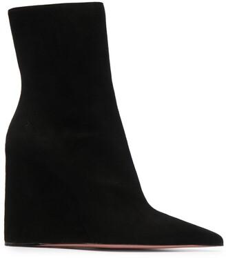 Amina Muaddi Pernille wedge ankle boots