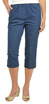 Allison Daley Petites Pull-On Denim Capris