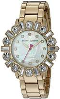 Betsey Johnson Women's Quartz Stainless Steel and Alloy Casual Watch, Color:Gold-Toned (Model: BJ00612-02)