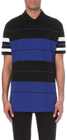 Givenchy Stripe Print Cotton-piqué Polo Shirt