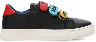 Little Marc Jacobs Leather Strap Sneakers