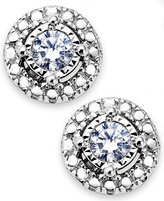 TruMiracle® Diamond Halo Stud Earrings in Sterling Silver (1/5 ct. t.w.)