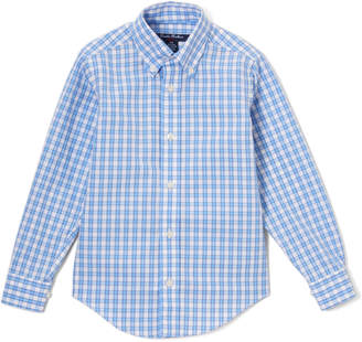 Brooks Brothers Boys' Tee Shirts Open - Light Blue & White Gingham Button-Up - Boys