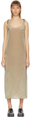 AMOMENTO Khaki Tied Slip Dress