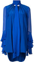 Prabal Gurung tiered sleeve neck tie blouse