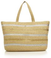 Eric Javits Sinclair Striped Metallic Woven Squishee Tote