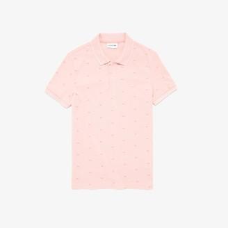 Lacoste Men's Micro Print Polo Shirt