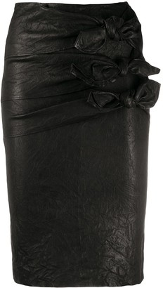 Zadig & Voltaire Leather Pencil Skirt