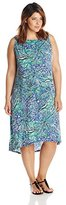 MSK Women's Plus-Size Sleeveless Printed Dress