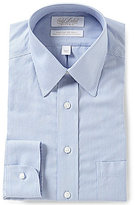 Roundtree & Yorke Gold Label Non-Iron Fitted Classic-Fit Point Collar Striped Dress Shirt