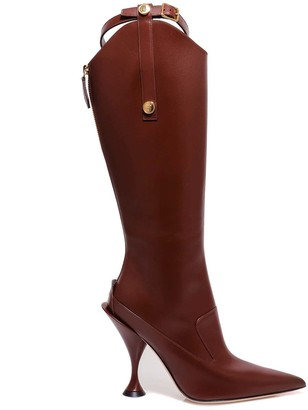 Burberry Strap Knee-Length Boots