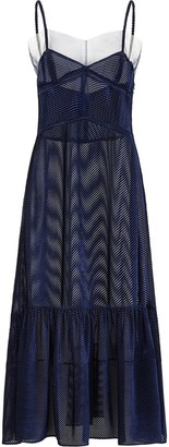 Fendi Midi Corduroy-Effect Dress