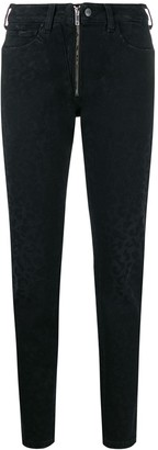 Marcelo Burlon County of Milan rinse wash leopard print jeans