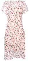 HVN cherry print midi dress