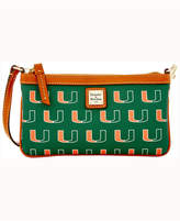 Dooney & Bourke Miami Hurricanes Large Slim Wristlet