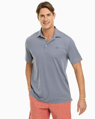Southern Tide Brrr Striped Driver Performance Polo Shirt