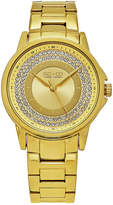 SO & CO NY Womens Madison Gold-Tone Stainless Steel Bracelet Casual Crystal Outer Dial Quartz Watch J159P70