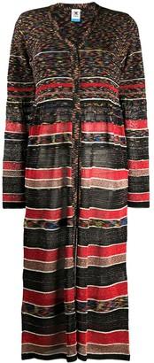 M Missoni Contrast Pattern Glitter Detail Cardigan
