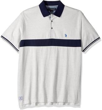 U.S. Polo Assn. Men's Classic Fit Color Block Short Sleeve Jersey Polo Shirt