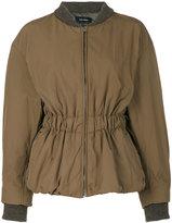 Isabel Marant elastic waist jacket - women - Polyester/Cupro - 38
