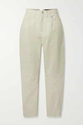 Sprwmn Leather Tapered Pants - Cream